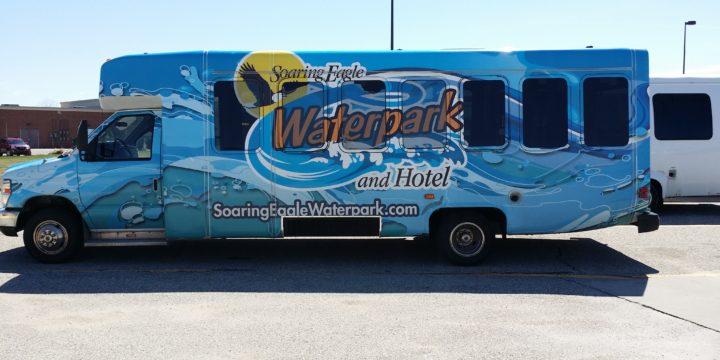 Bus Wrap for Soaring Eagle Waterpark and Hotel